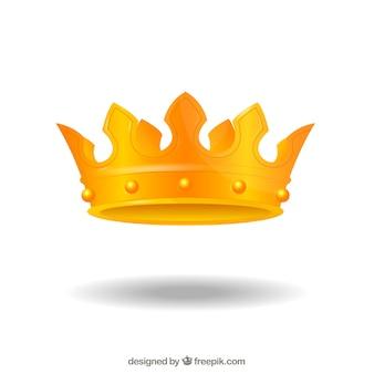 Coroa dourada elegante e bonita