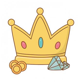 Coroa e diamante
