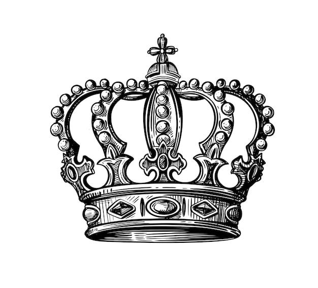 Coroa real em estilo vintage e rococó.