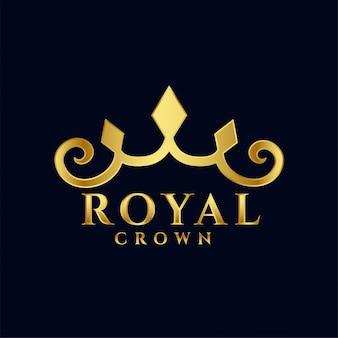 Coroa real logotipo conceito premium ícone do design