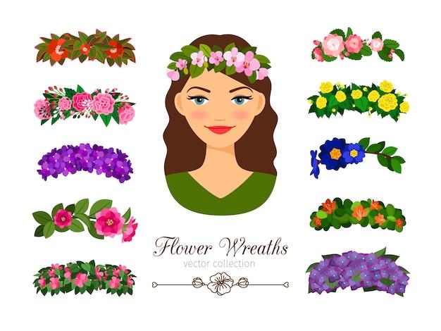 Coroas de flores para meninas