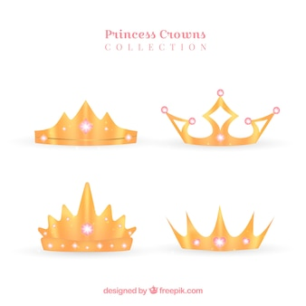 Coroas de ouro sofisticadas
