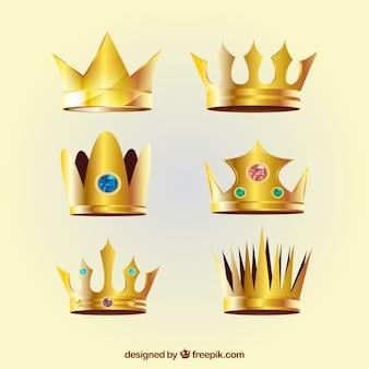 Coroas realistas com variedade de modelos