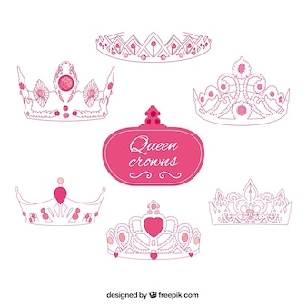 Coroas rosa da rainha