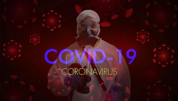 Corona virus stop covid19 ppe traje de proteção pessoal