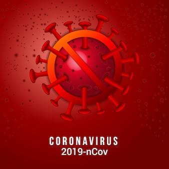 Coronavírus 2019-ncov e fundo de vírus com células da doença. surto de vírus da coroa covid-19 e conceito de risco médico para pandemia de saúde