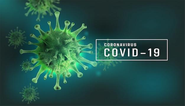 Coronavirus 2019-ncov, elemento para conceito médico, estilo 3d de vírus de microscópio