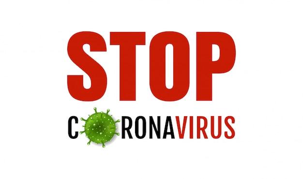 Coronavirus 2019 ncov fundo branco