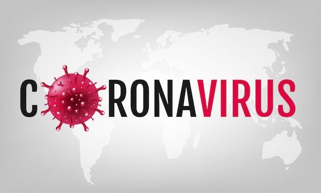Coronavirus 2019 ncov fundo cinza