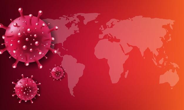 Coronavirus 2019 ncov fundo vermelho