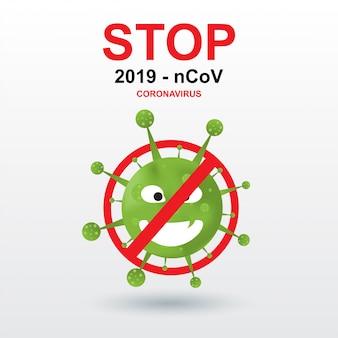 Coronavírus 2019-ncov. vírus corona em fundo branco isolado