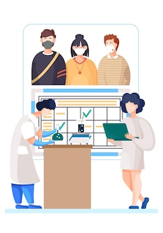 Coronavírus afeta ilustração de pessoas