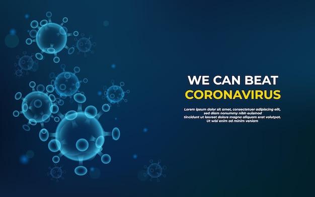 Coronavírus, doença de fundo, saúde médica e pesquisa pandemia global
