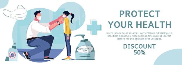 Coronavírus e banner de saúde
