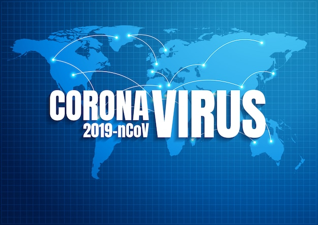 Coronavírus, ilustração de fundo.