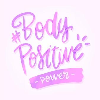 Corpo de letras positivo