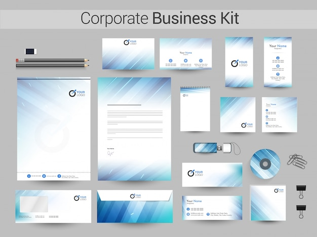 Corporate business kit ou branding design.