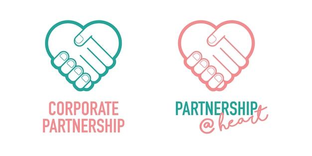 Corporate partnership business ícone de vetor de negociação de aperto de mão bem sucedida