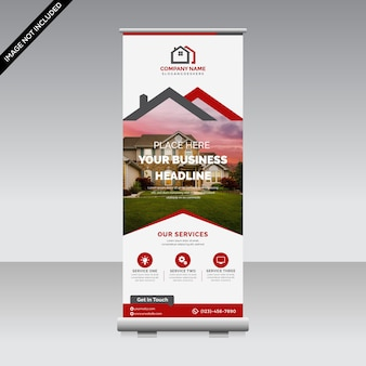 Corporate roll up banner premium