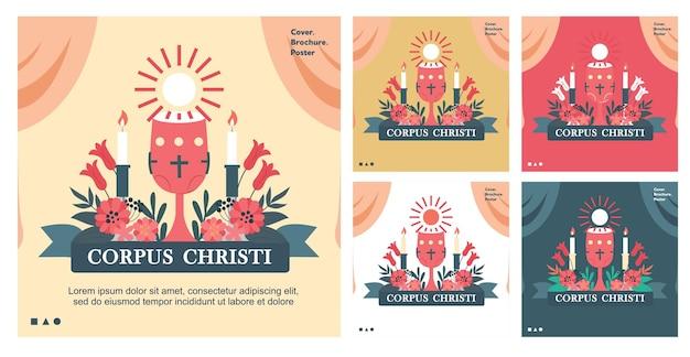 Corpus christi para o histórico completo em homenagem a jesus