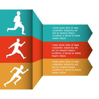 Corredor atleta executando design