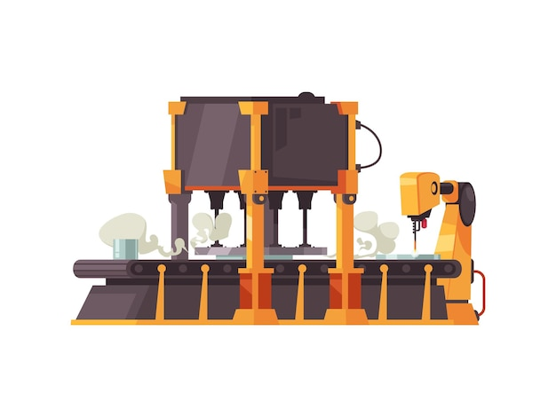 Correia transportadora robótica automática de design plano em branco