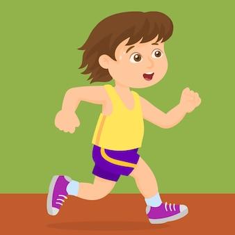 Correndo no dia do esporte da escola