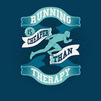 Correr é mais barato do que citações de terapia dizendo
