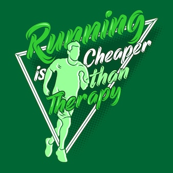 Correr é mais barato que terapia dizendo aspas. executando ditos e citações