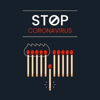 Corresponde ao conceito de parar o coronavírus