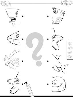 Correspondem com molas de animais para colorir livro