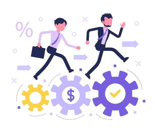 Corrida de competição de negócios