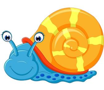 Corrida de desenhos animados de caracol fofo