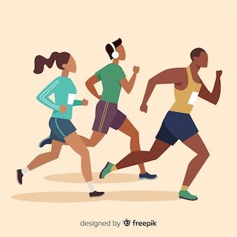 Corrida de maratona