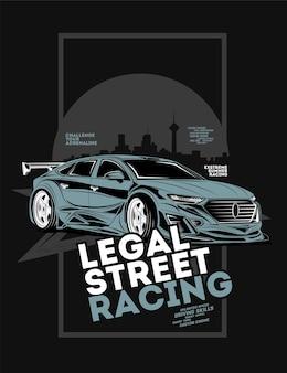 Corrida de rua legal, super carro