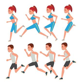 Corrida masculina e feminina