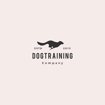 Corrida saltando cão logo