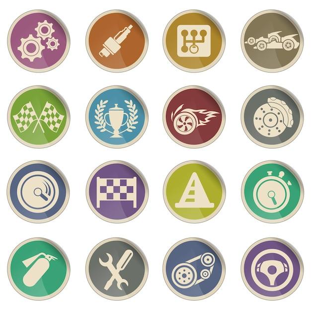 Corrida simplesmente símbolo para ícones da web