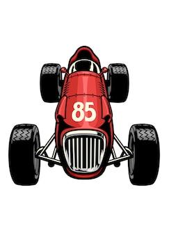 Corridas de carros antigos de fórmula vintage