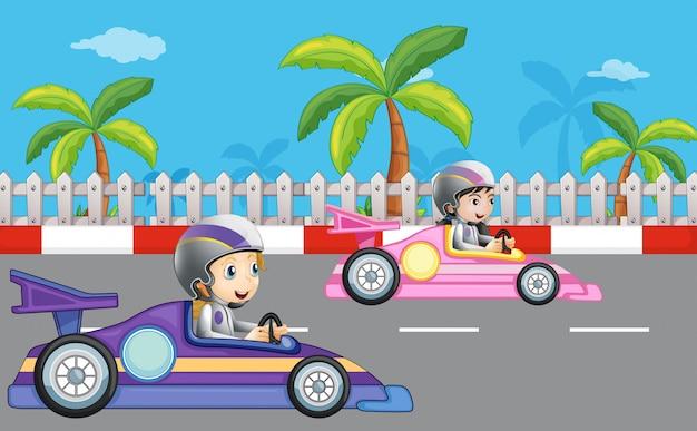 Corridas de carros de meninas
