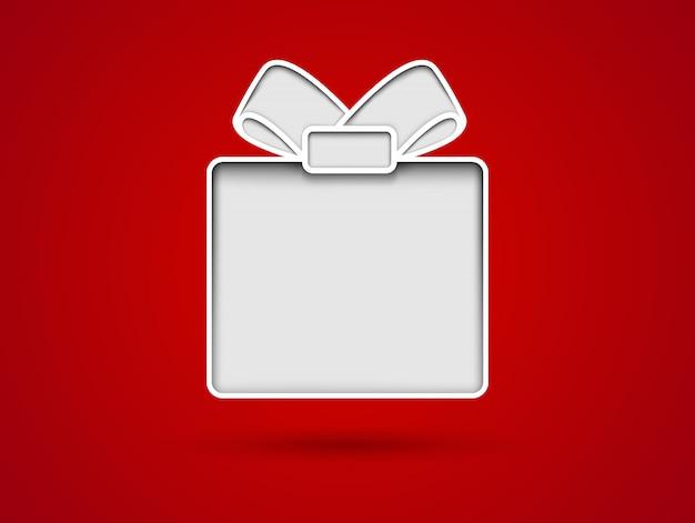 Cortar a ilustração do cartão de presente