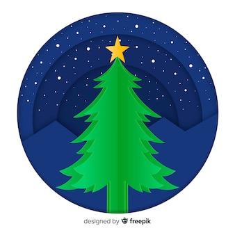 Cortar fundo de árvore de natal