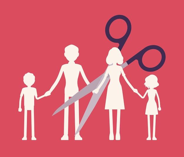 Corte corrente de guirlanda de papel para membros da família