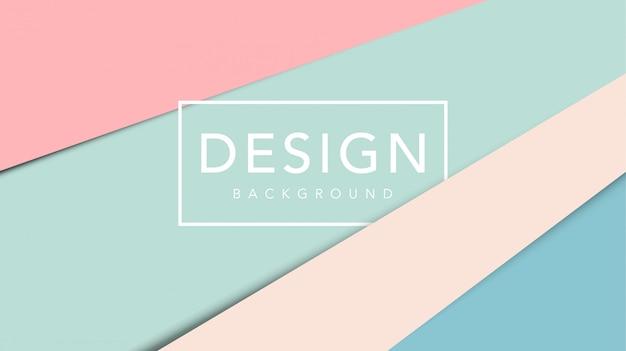 Corte de papel abstrato com modelo de cor pastel