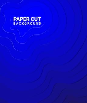 Corte de papel colorido moderno estilo de fundo azul