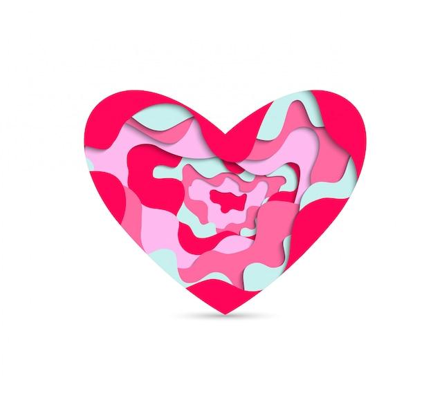 Corte de papel coração