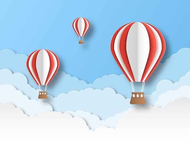Corte de papel de balão de ar.