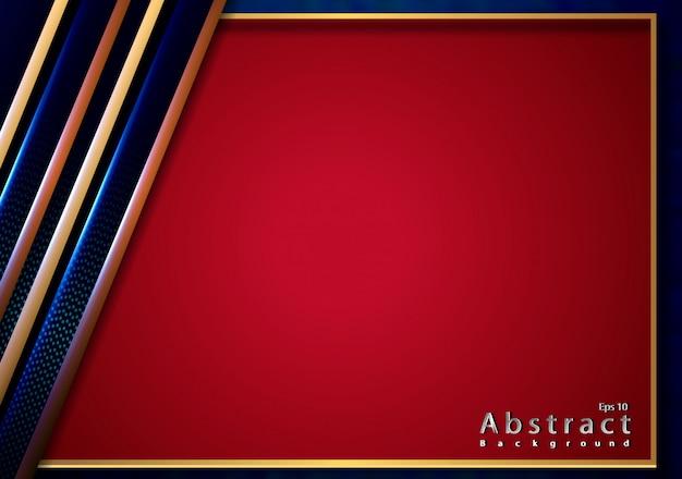 Corte de papel elegante dourado com textura metálica rosa 3d