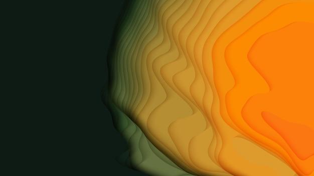 Corte de papel gradiente abstrato 3d