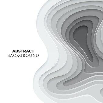 Corte de papel moderno design de plano de fundo. elemento de papel origami monocromático abstrato